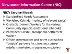 newcomer information centre nic