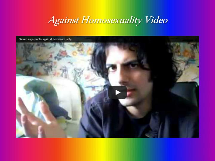 Against Homosexuality Video