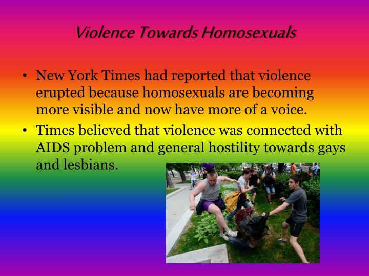 Violence Towards Homosexuals