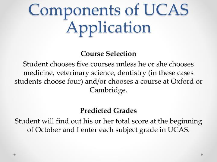 Components of UCAS Application