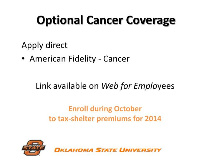 Optional Cancer Coverage