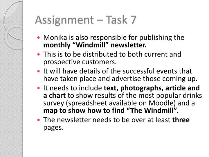 Assignment – Task 7