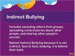 indirect bullying