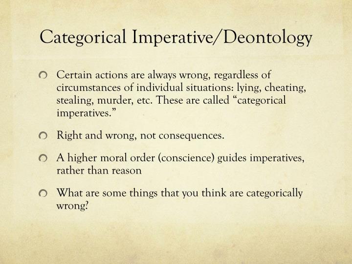 Categorical imperative deontology