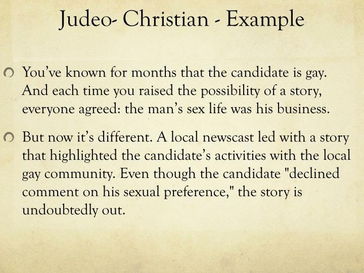 Judeo- Christian - Example