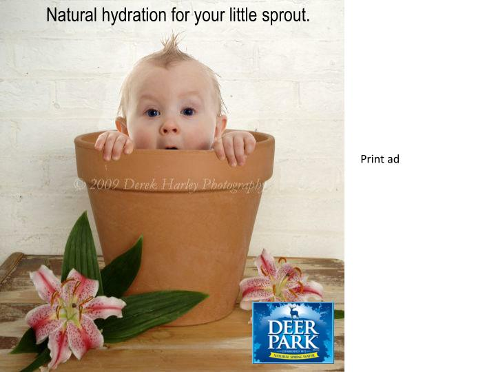 Natural hydration for your little sprout.