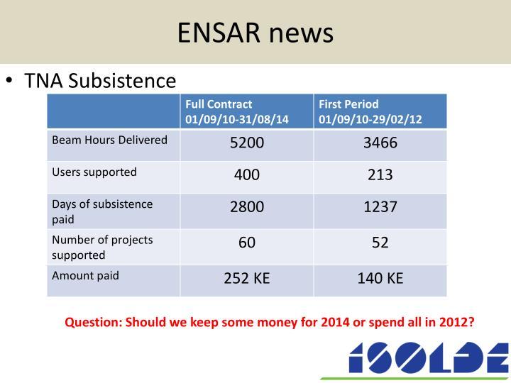 Ensar news