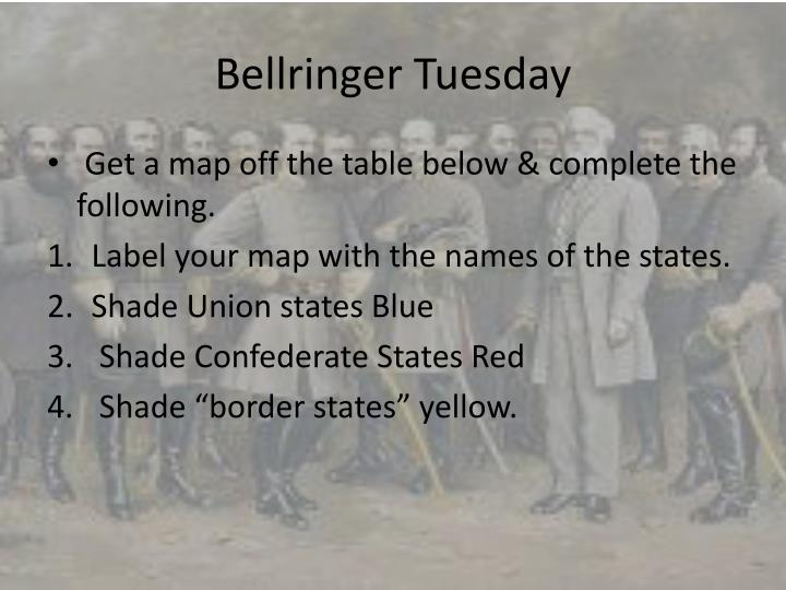 bellringer tuesday n.