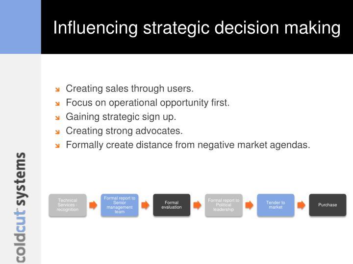 Influencing strategic decision making