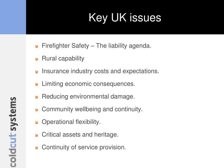 Key UK issues