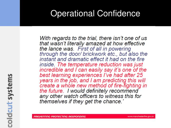Operational Confidence