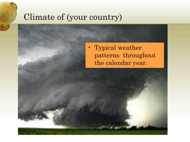 Climate of (your country)