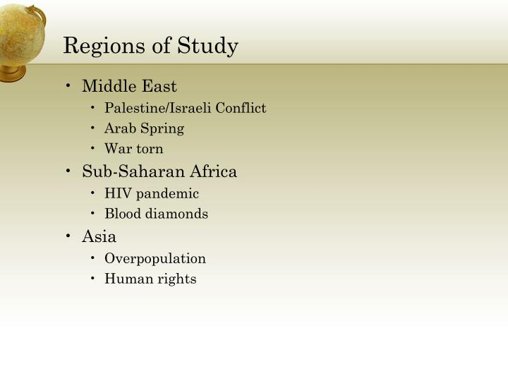 Regions of Study