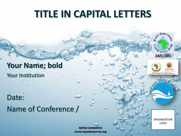 title in capital letters n.