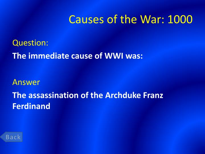 Causes of the