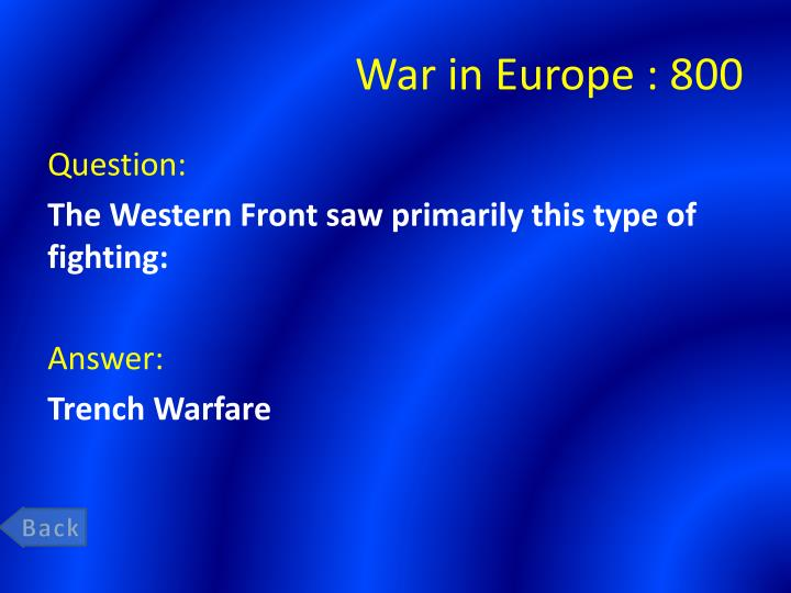 War in Europe : 8