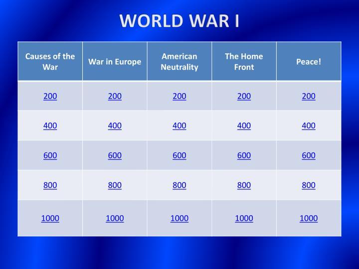 World war i1