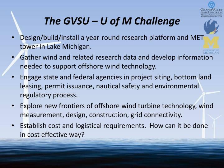 The GVSU – U of M Challenge