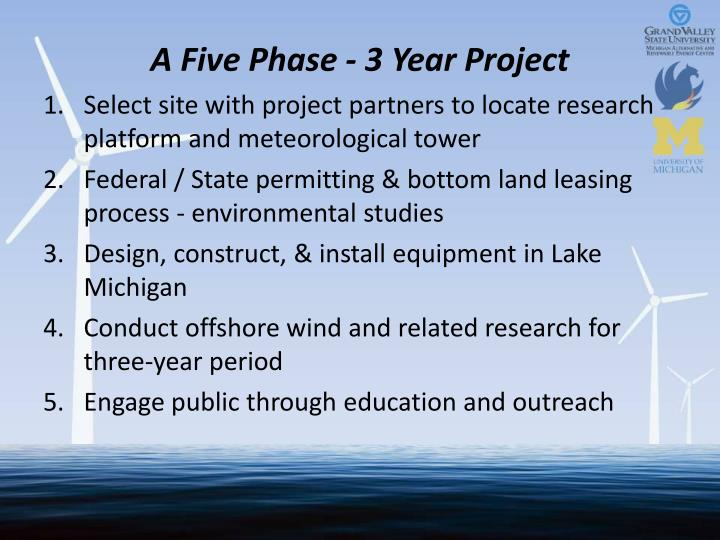 A Five Phase - 3 Year Project