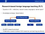 research based foreign language teaching flt