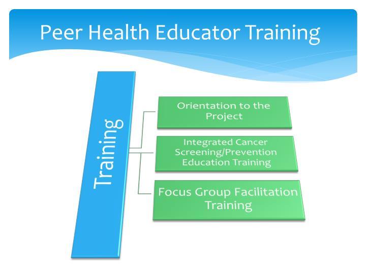 Peer Health Educator Training