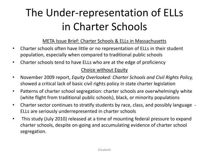 The under representation of ells in charter schools