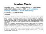 masters thesis