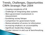 trends challenges opportunities cirpa strategic plan 2004