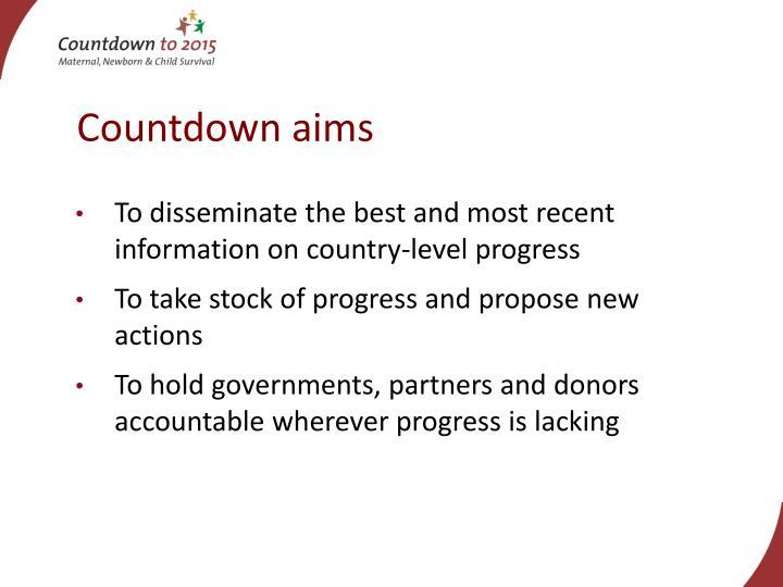 Countdown aims