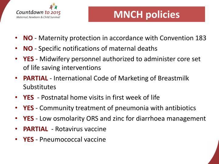MNCH policies