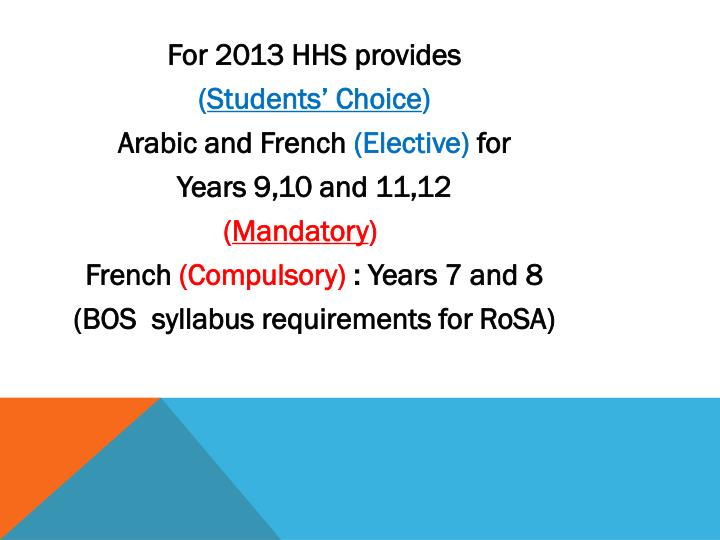 For 2013 HHS provides