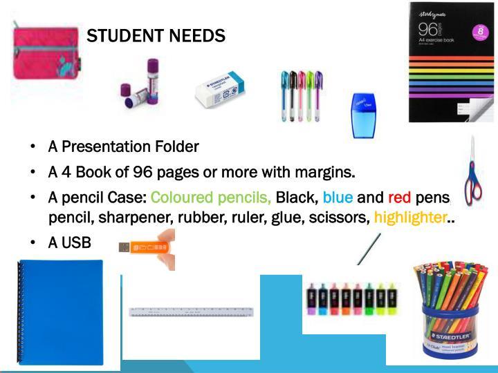 The Student needs