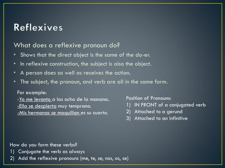 Reflexives