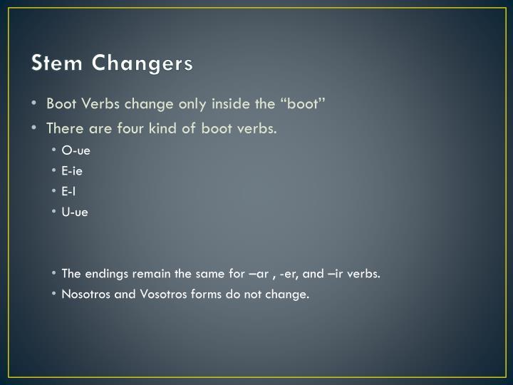 Stem Changers
