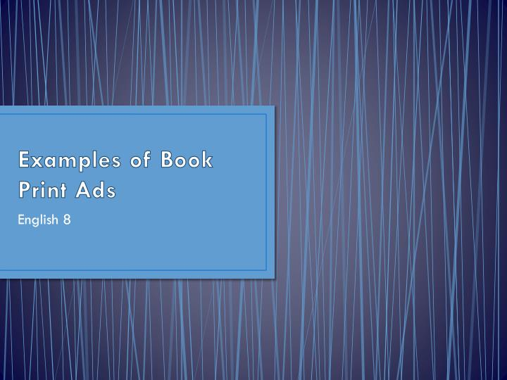 examples of book print ads n.