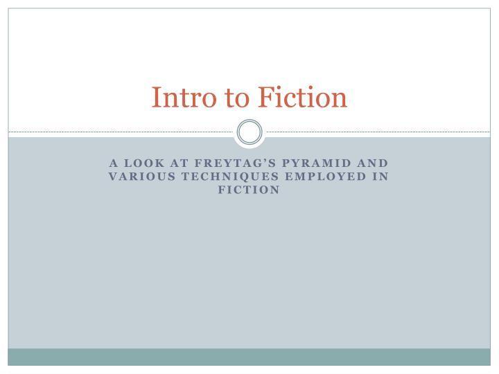intro to fiction n.