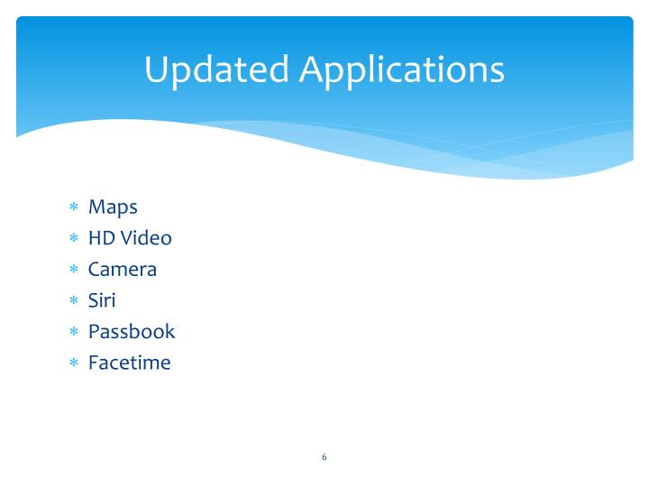 Updated Applications