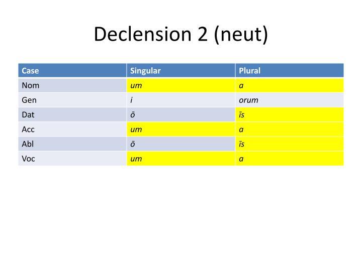 Declension 2 neut1