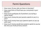 fermi questions