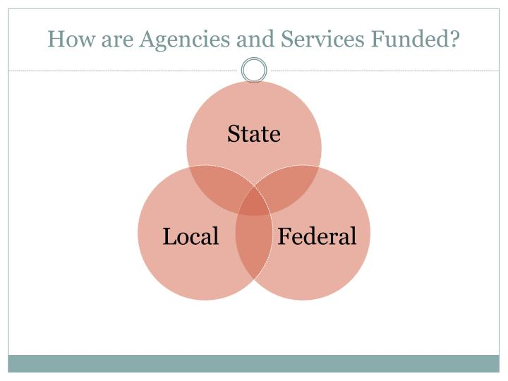 How are Agencies and Services Funded?