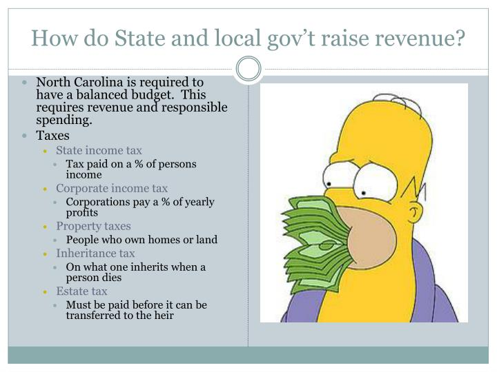 How do State and local gov't raise revenue?
