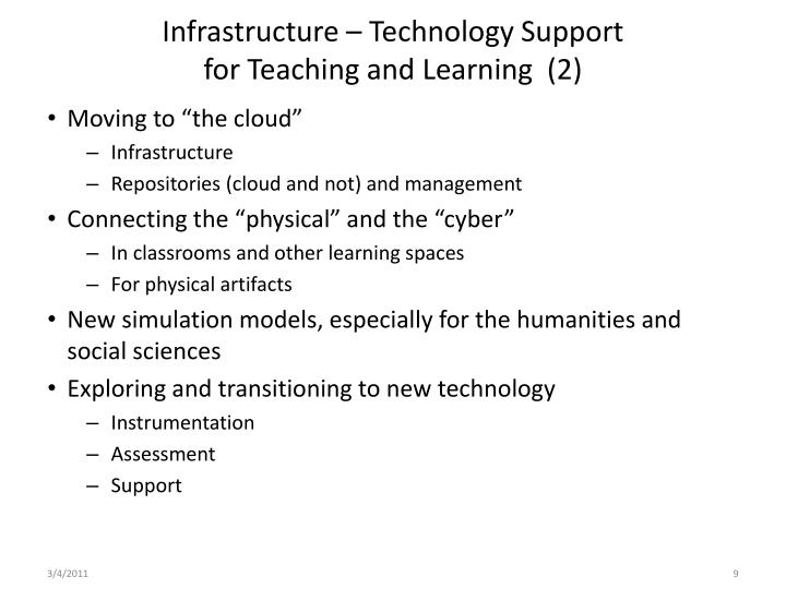 Infrastructure – Technology Support