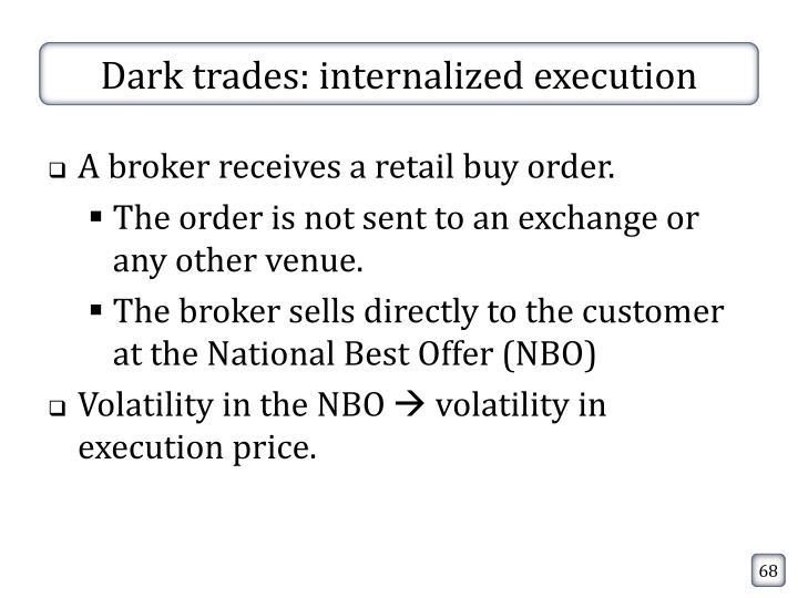 Dark trades: internalized execution
