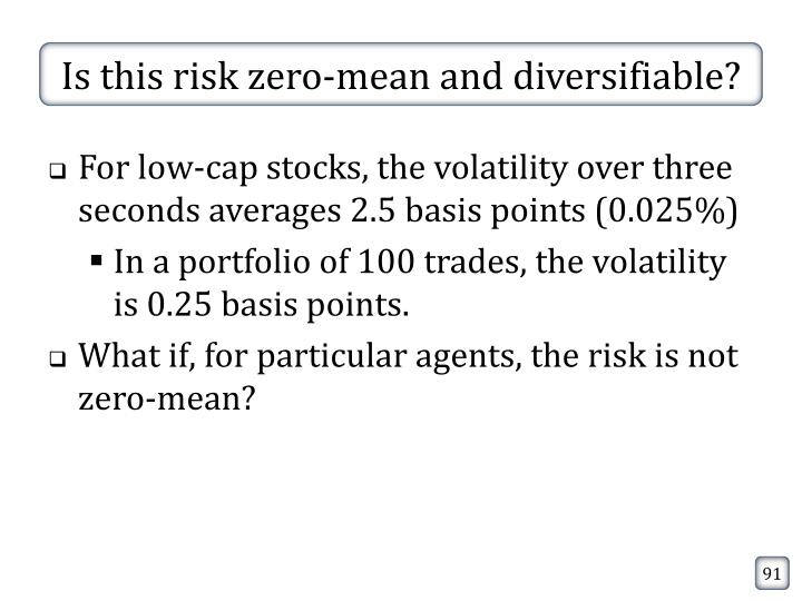 Is this risk zero-mean and diversifiable?