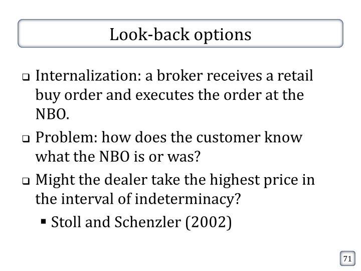 Look-back options