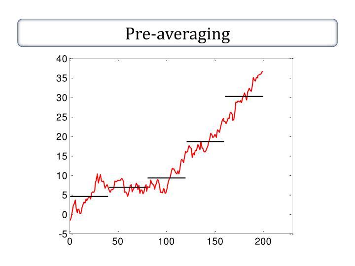 Pre-averaging