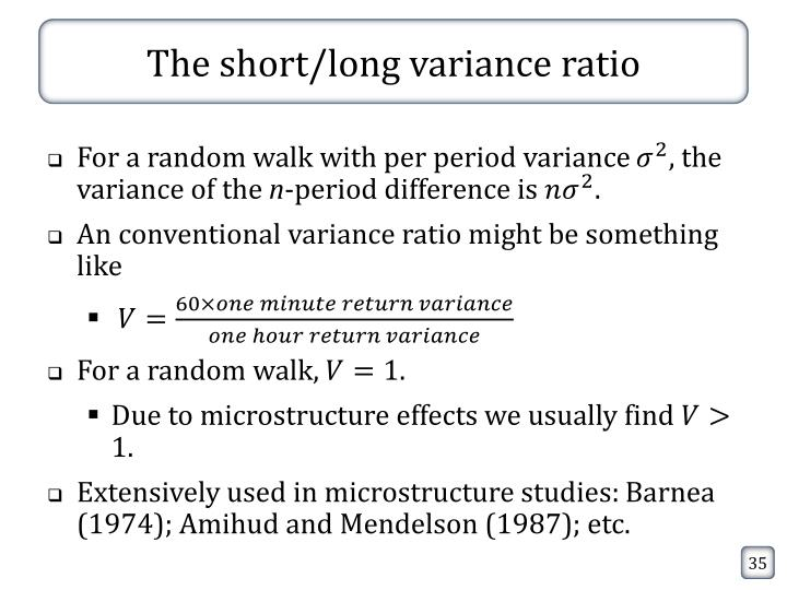 The short/long variance ratio