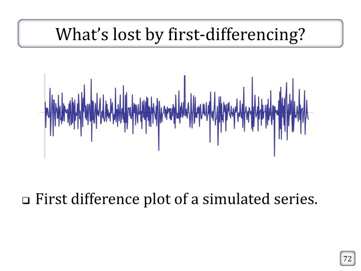 What's lost by first-differencing?