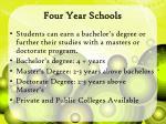 four year schools