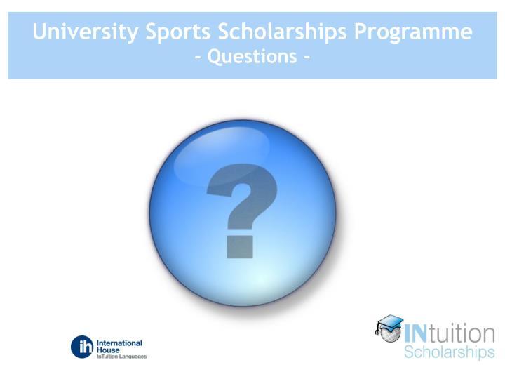 University Sports Scholarships Programme